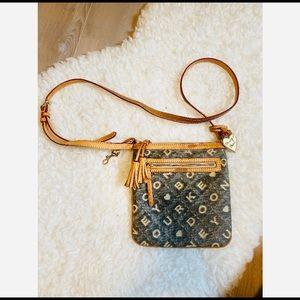 Dooney & Bourke Spell Out Crossbody Bag Logo